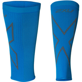 2XU X Compression Mangas para Pantorrillas, vibrant blue/grey